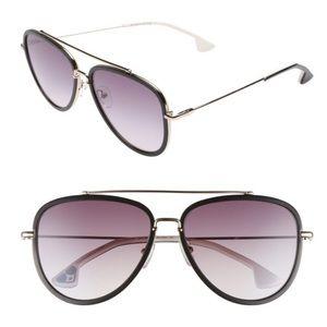NWT Alice + Olivia Lincoln Aviator Sunglasses